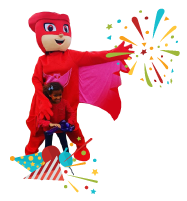 PJ Mask party mascot