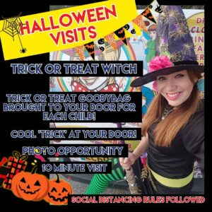 Halloween Tick Or Treat Visits at Your Door